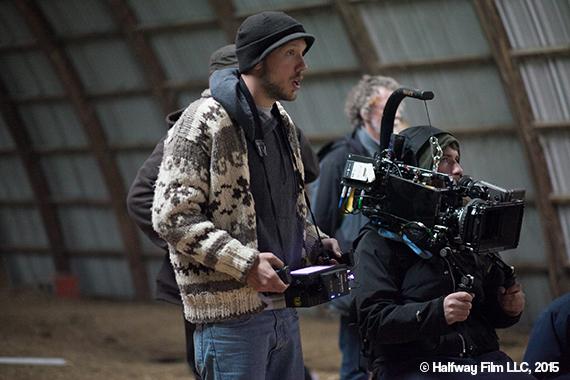 Ben directing on the set of Halfway