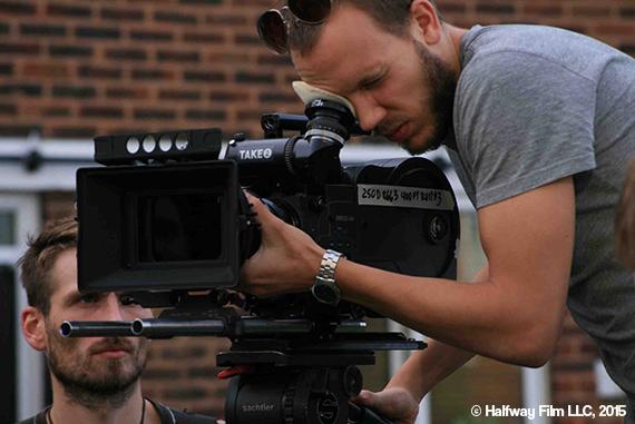 Ben on the set of his London Film School MA graduation film Drift. © Halfway Film LLC, 2015