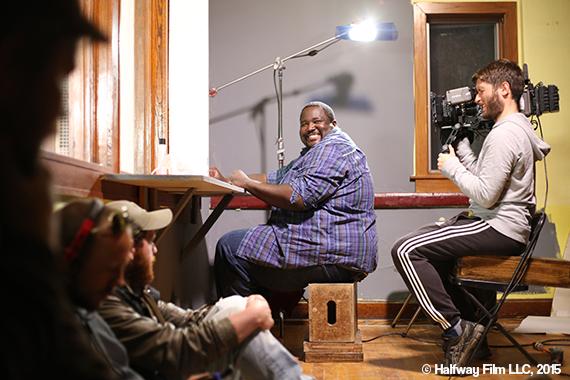 Quinton on the set of Halfway with cinematographer Benjamin Thomas. © Halfway Film LLC, 2015