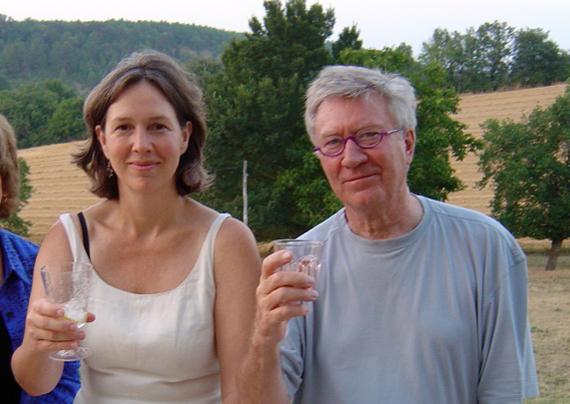 Meredith Wheeler & Robin Ellis on their terrace. Photo courtesy Meredith Wheeler & Robin Ellis