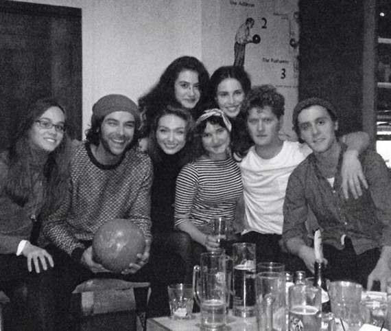 Heida and others from the cast and crew of Poldark, bowling. Photo: Heida Reed via Twitter.