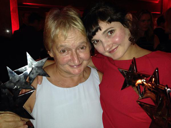 Ruby with her mom, Janine Duvitski.