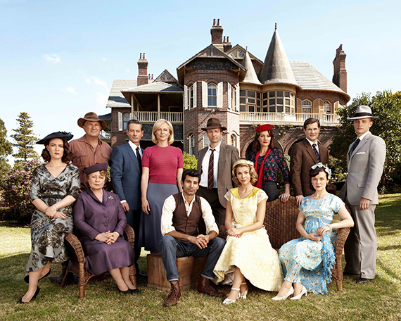 The cast of A Place to Call Home. Photo: Acorn TV.