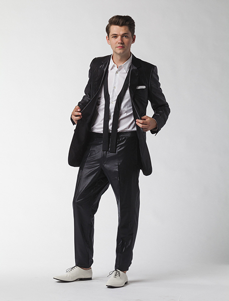Damian at his photo shoot for the album cover. Photo: Damian McGinty