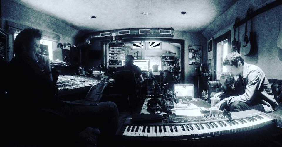 Warren and Damian in the studio working long hours. Photo: Kasia Huart