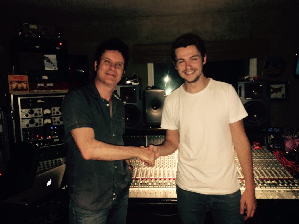 Warren Huart and Damian in Warren's studio. Photo: Kasia Huart