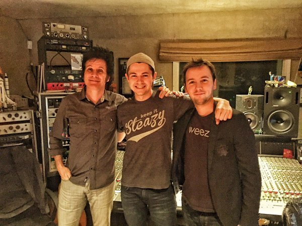 Warren Huart with Damian and co-writer Tom Harrison. Photo: Kasia Huart