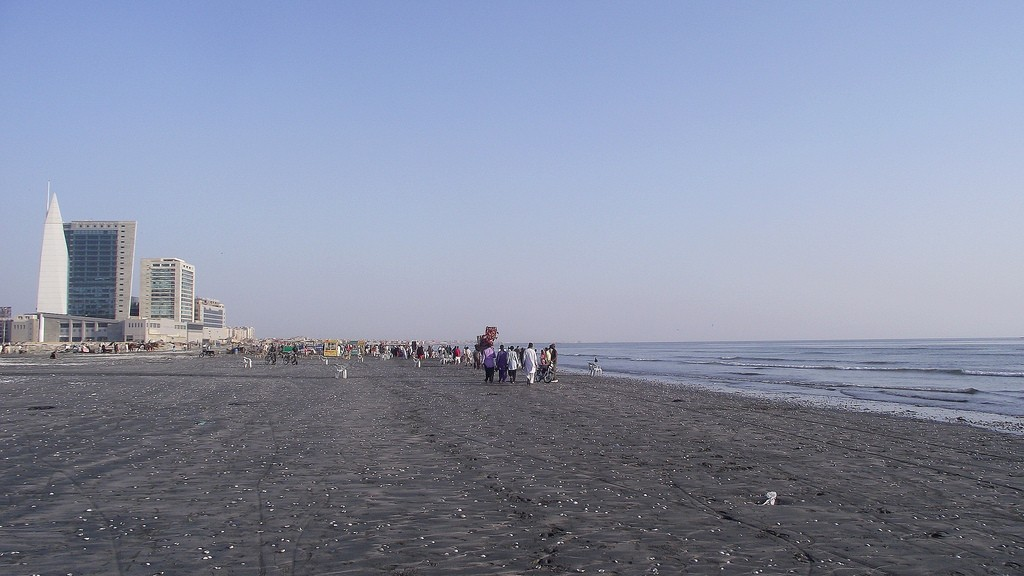 The Clifton Beach is situated beside the Saddar Town which is the central point of city