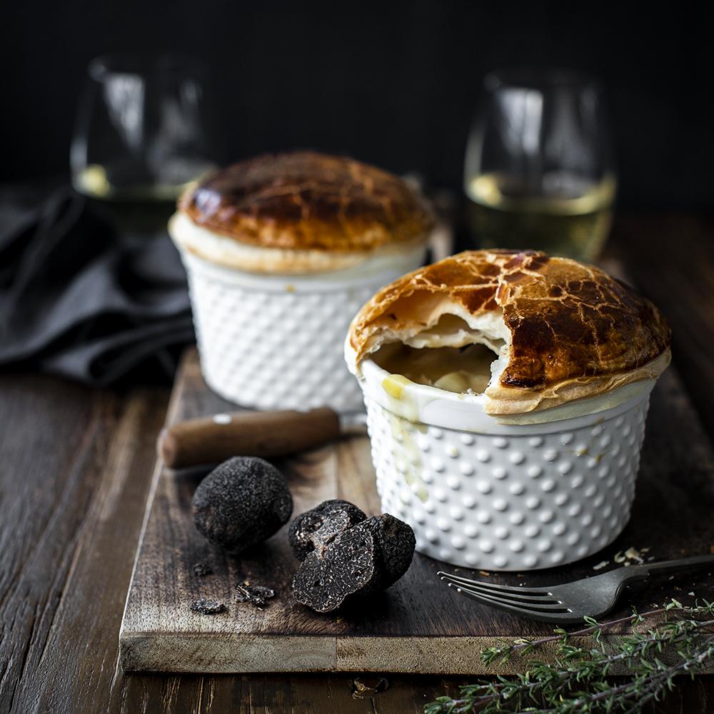 Celebrating the truffle season. Chicken Pot Pie with Black Truffle.