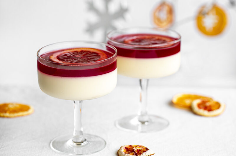 Aperol and Blood Orange Panna Cotta