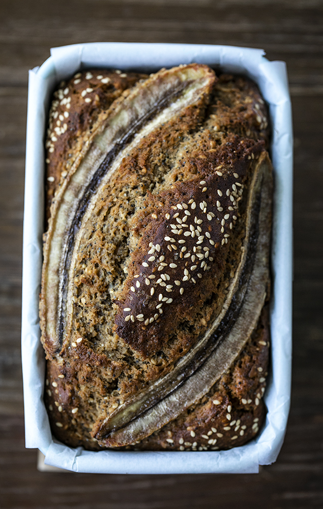 Wholesome Seeded Banana Bread with Tahini and Olive oil