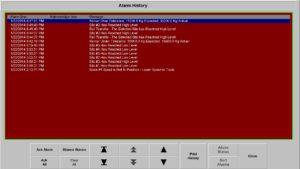FRAC SAND HANDLING SYSTEMS ALARM HISTORY