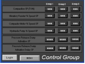 Control Group Screen
