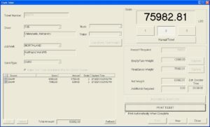 Truck Ticket Screen