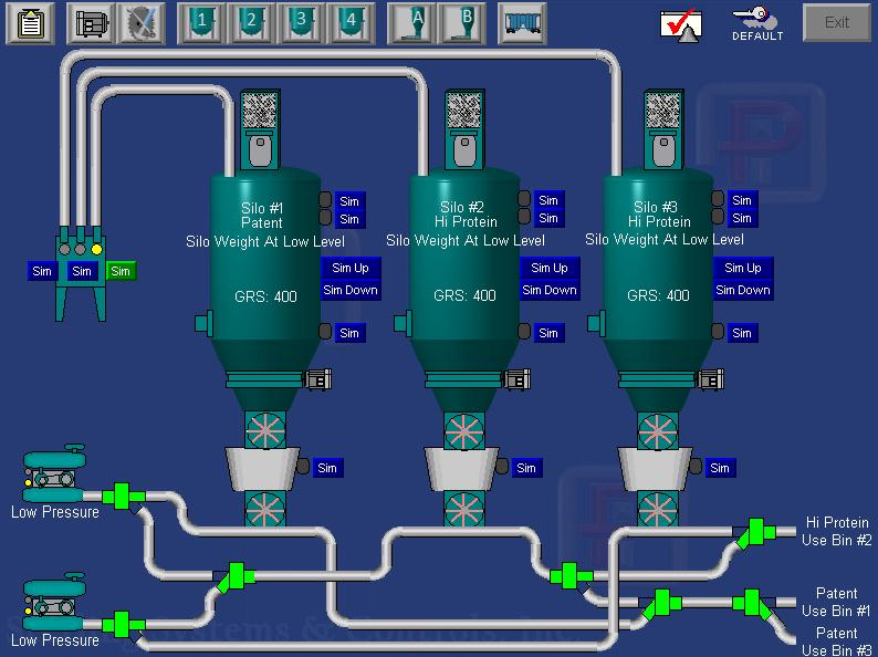 PROCESS CONTROLS AND AUTOMATION SCREEN FOR PNEUMATIC CONVEYING