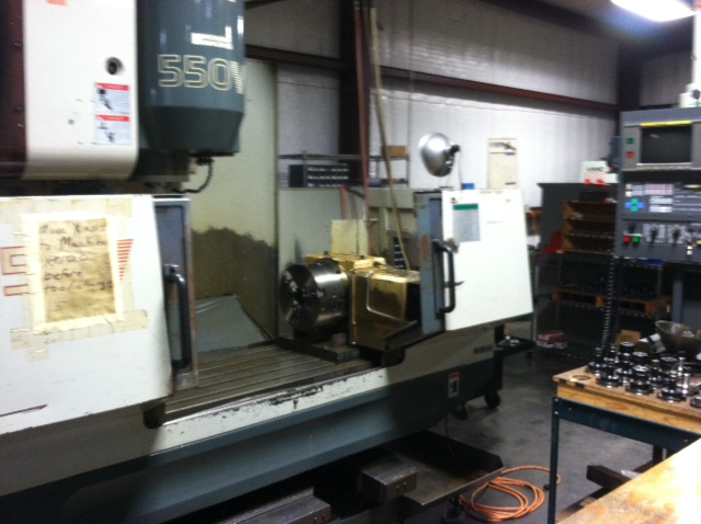MIC-ALL's machine shop is equipped with a ENSHU 550 VMC