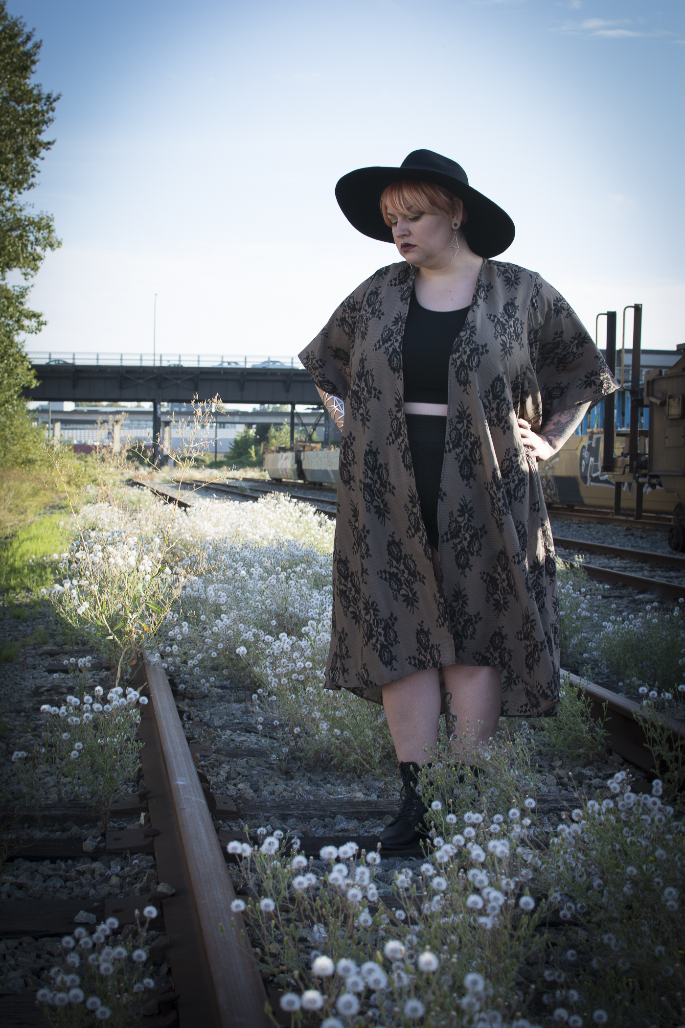 Margot Meanie | rebellious plus size style, wearing SWAK designs