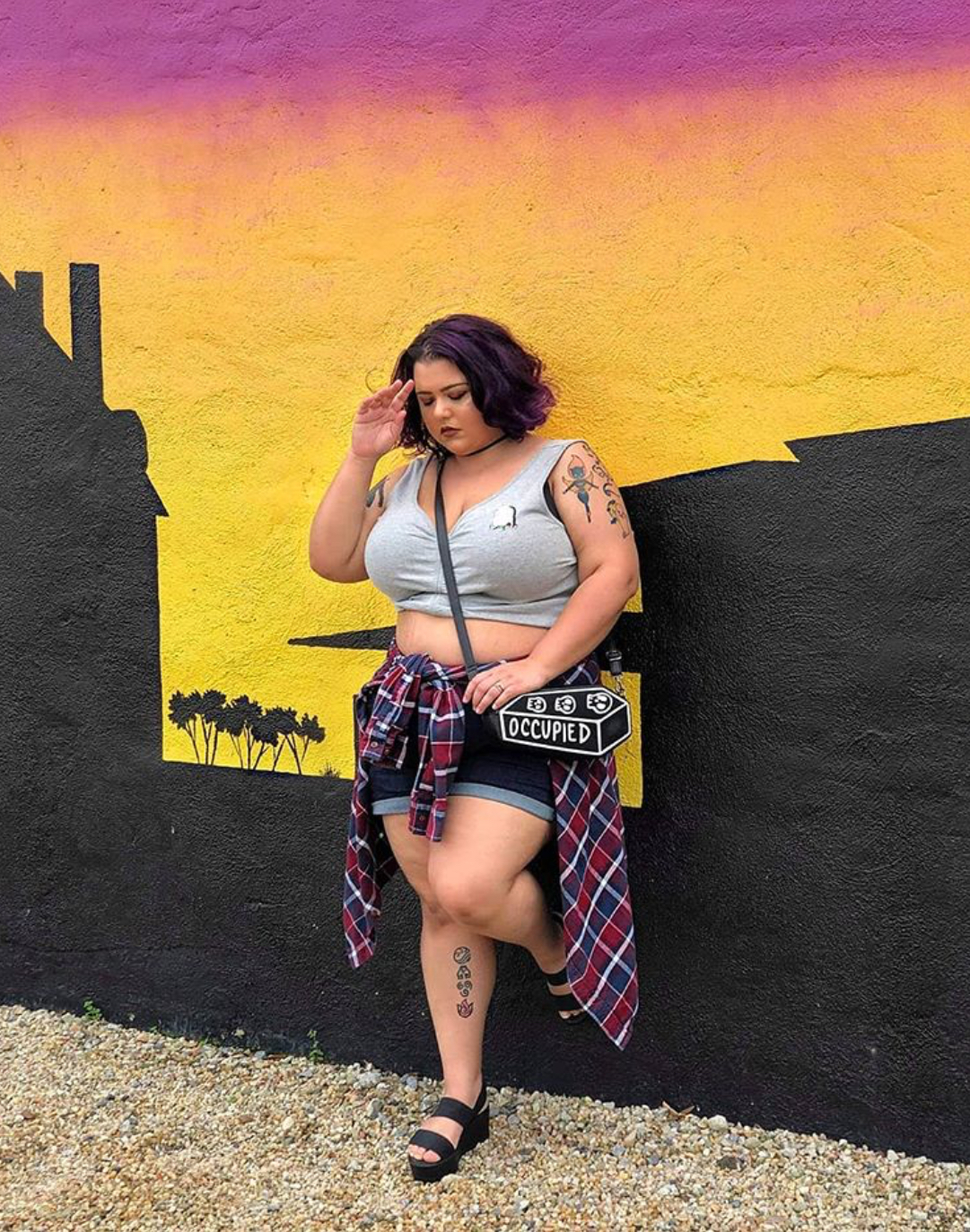plus size grunge outfit