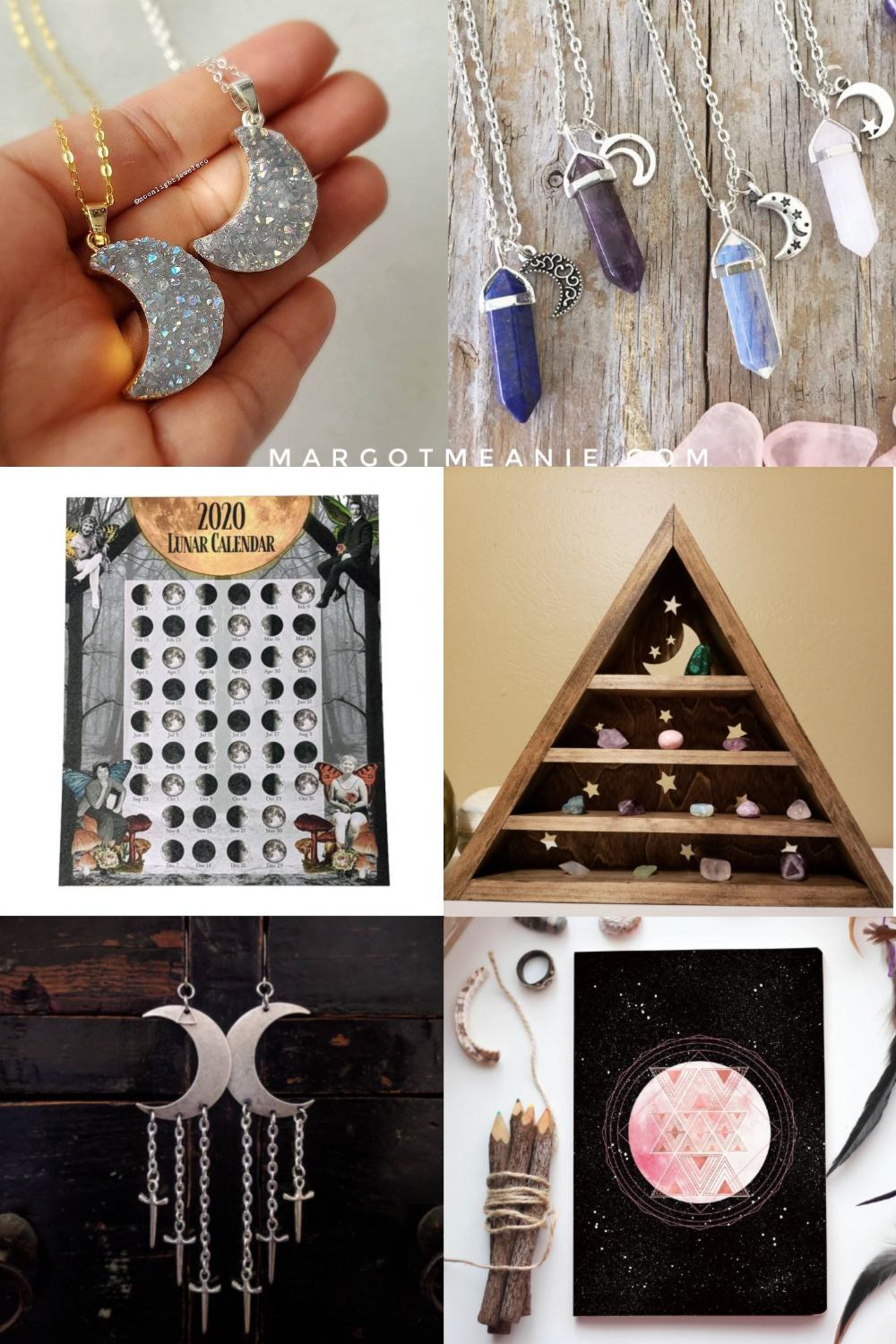 Collage of Moon Related Gift Ideas
