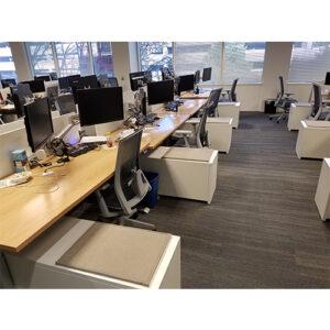 US Foods remodeled offices with desks