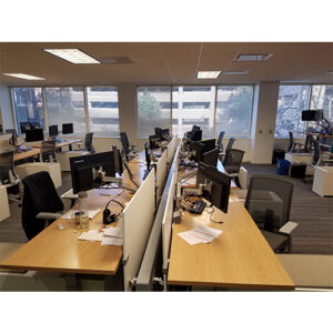 US Foods remodeled offices with desks and chairs