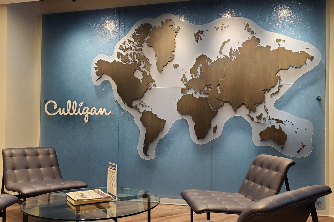 Culligan International map wall