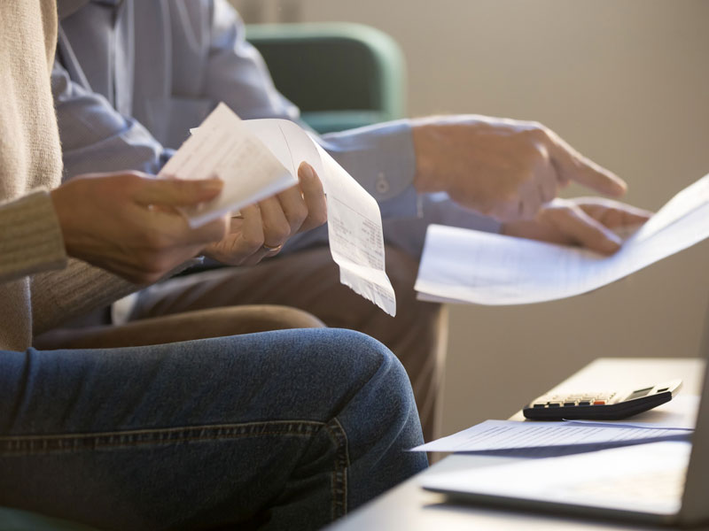Bookkeeping receipts