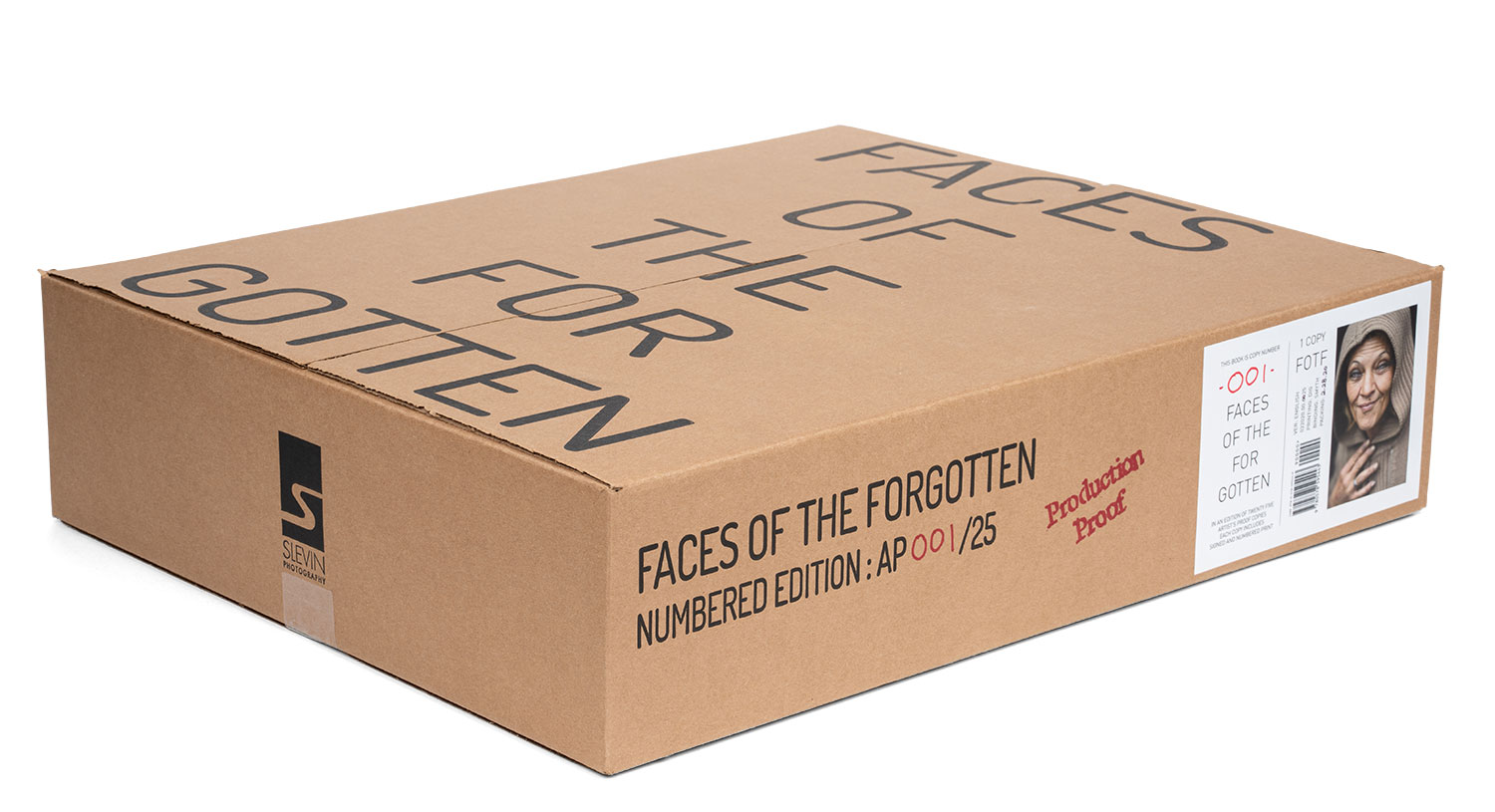 Faces of the Forgotten Artist's Proof box with label.