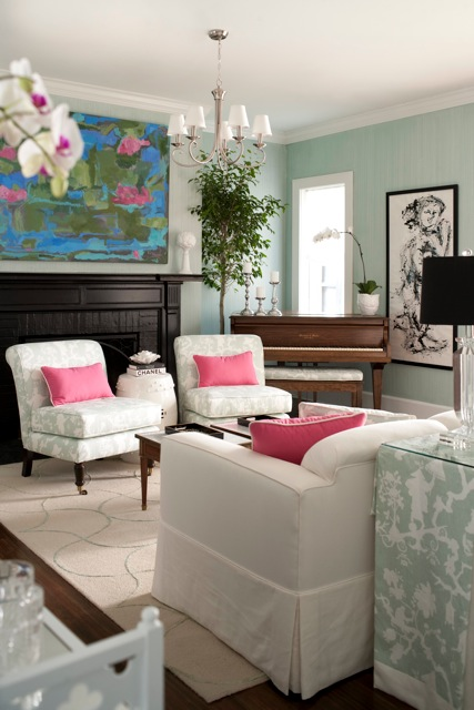 An overall of the living room by Beth Foley.