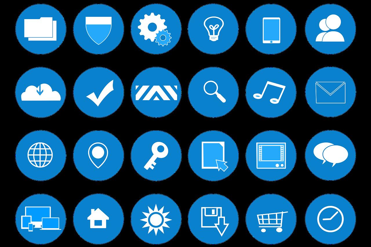 icons, web development, website design