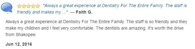 The staff is so friendly. The dentists are amazing.