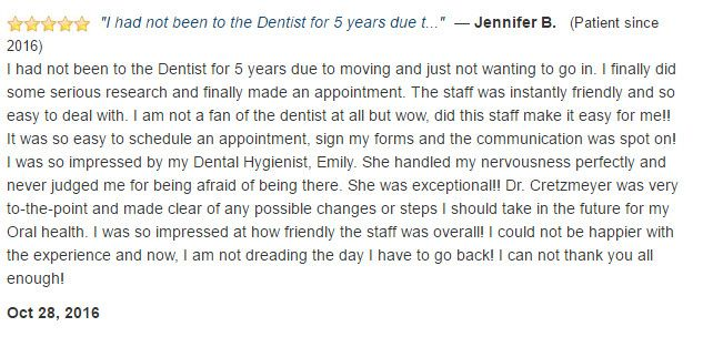 I am not a fan of the dentist at all but wow, did this staff make it easy for me!!