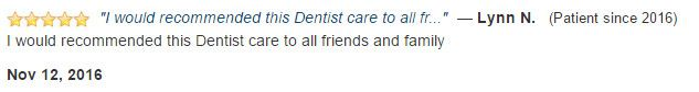 I would recommended this dentist care to all friends and family.