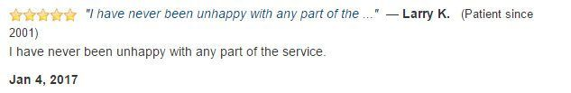 I have never been unhappy with any part of the service.