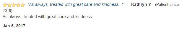 As always, treated with great care and kindness.