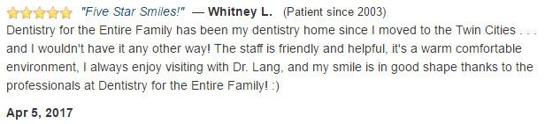 My smile is in good shape thanks to the professionals at Dentistry for the Entire Family!