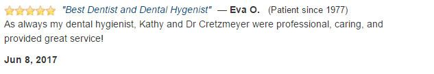 Kathy and Dr Cretzmeyer were professional, caring, and provided great service!