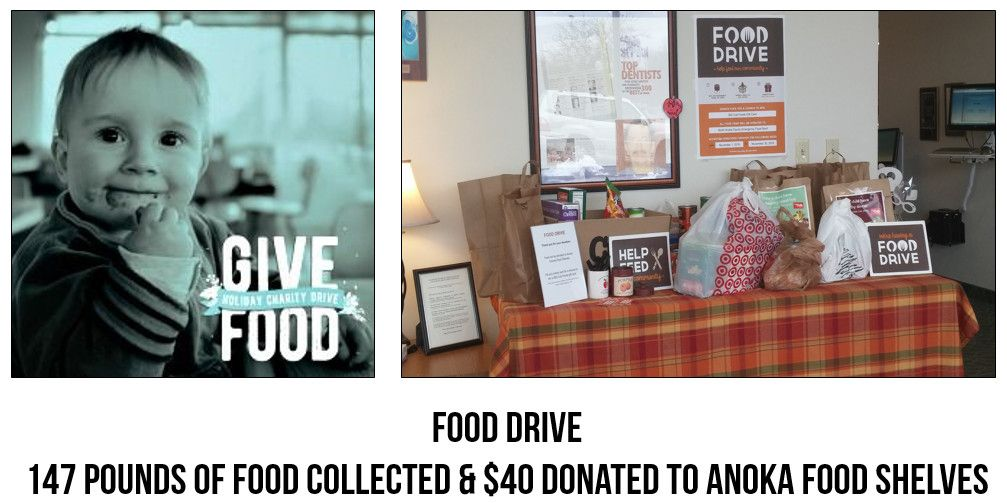 Dentistry-for-the-Entire-Family-Hosted-Food-Drive-for-Anoka-County-Food-Shelf