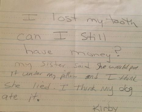 Letter to Tooth Fairy