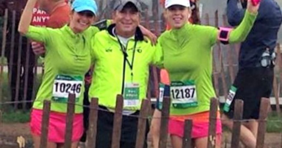 Dr Cretzmeyer, Jodi, and Jenny and running race event