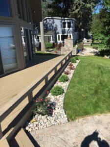 Deck border by Twin Oaks Landscaping