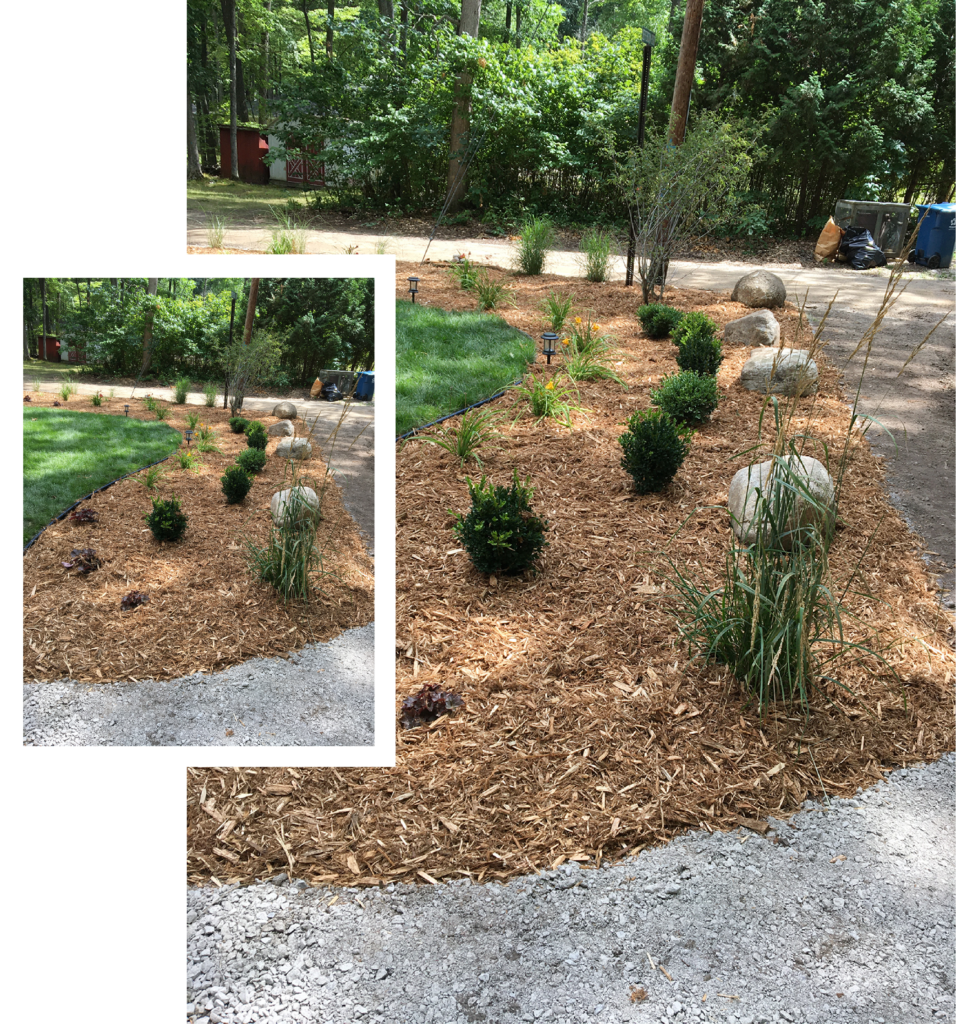 Mulch softscape design and installation