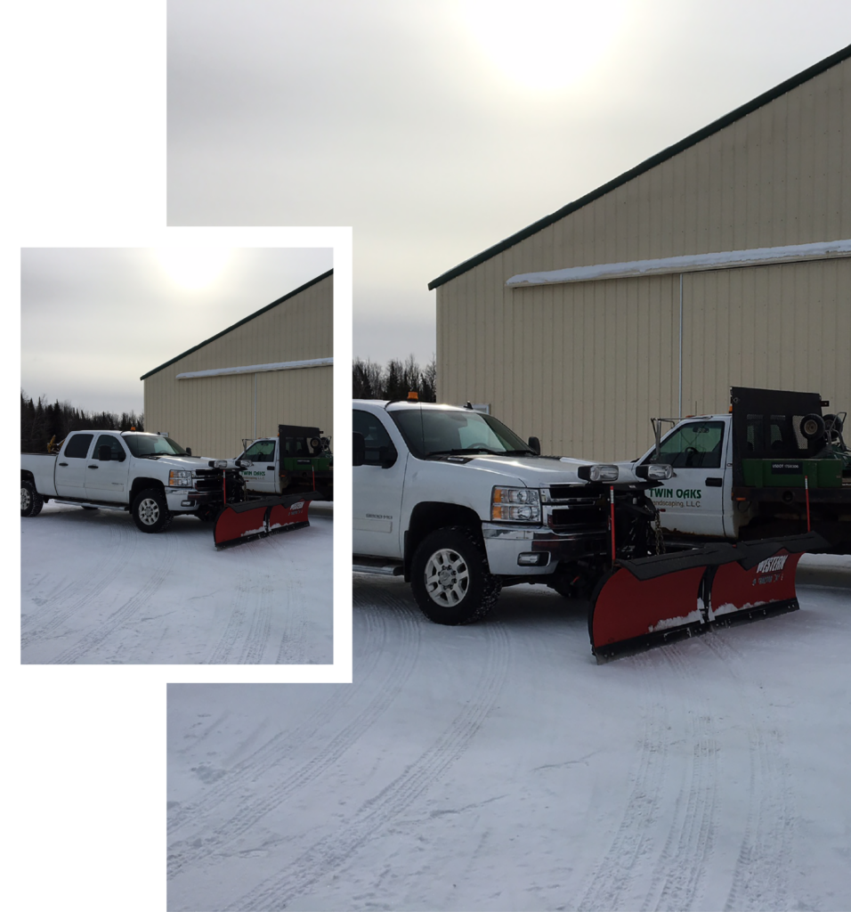 Twin Oaks Landscaping plow trucks