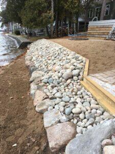 Shoreline preservation by Twin Oaks Landscaping