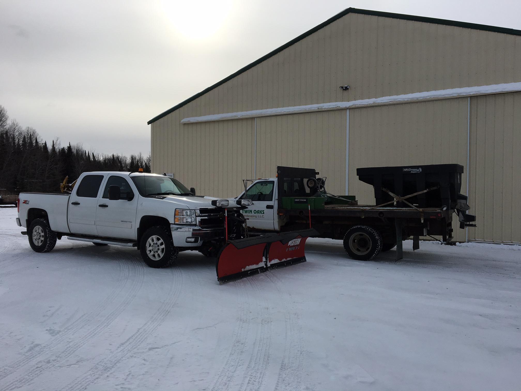 Twin Oaks snow plow trucks