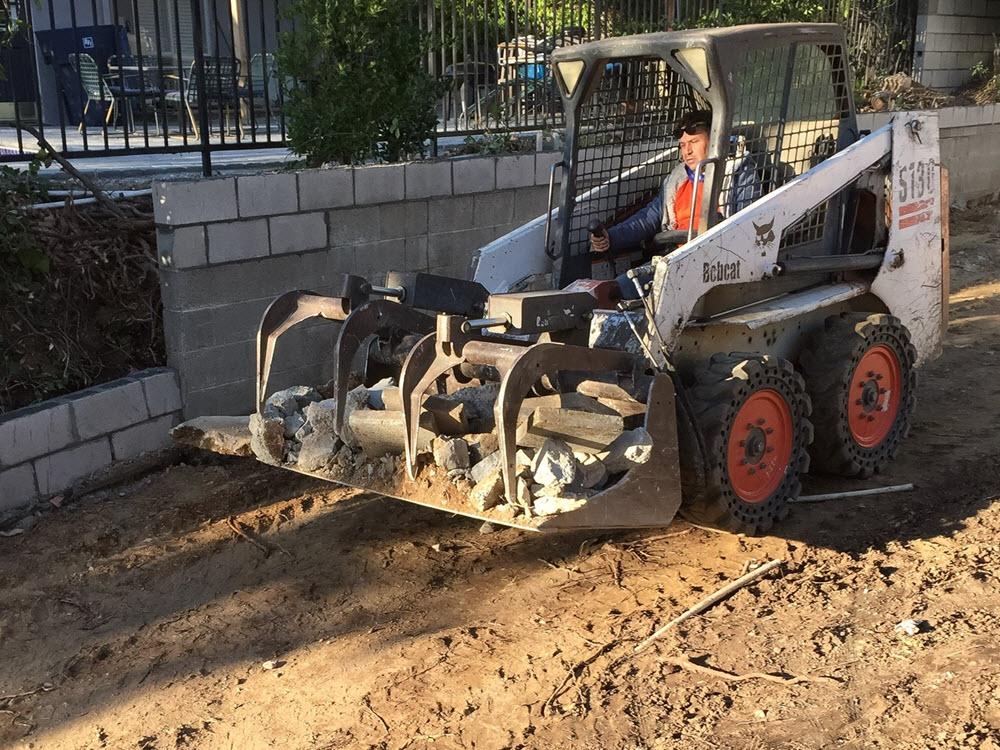 Ed's Landscaping Installation - Bobcat