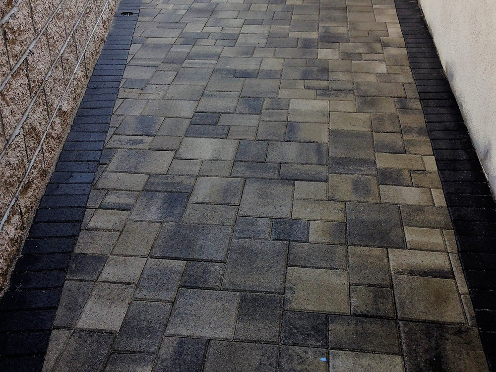 Pavingstone gray and brown