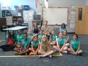 Girls Scouts cpr class