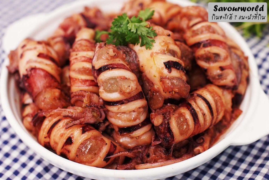 เมนูหมึกต้มหวานหรือที่ทางใต้เรียกว่าตะปะซูตง  - savourworld.com
