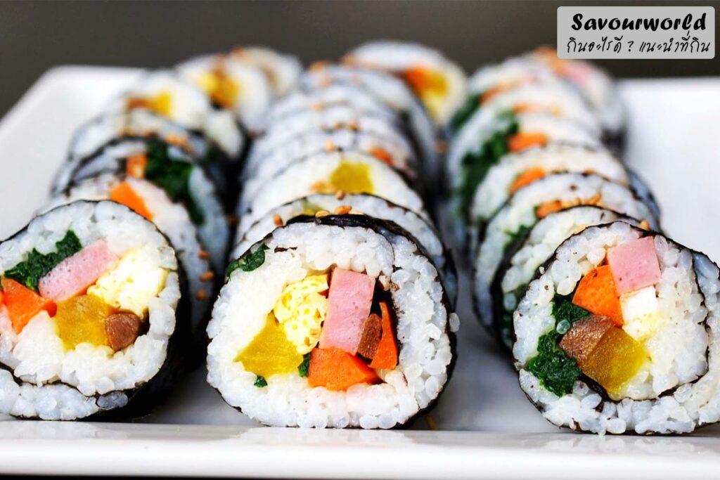 ปรุงรสข้าว และ ใส่ไส้ในคิมบับ - savourworld.com